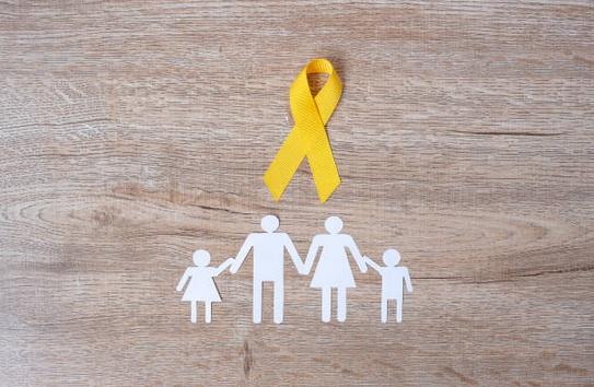 le ruban doré du cancer des enfants